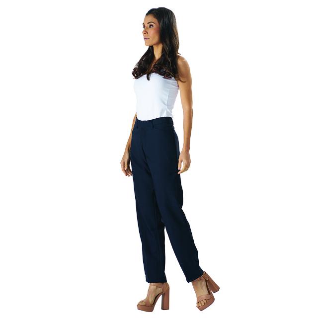 Celana Kantor Wanita Biru | LA MONTEE