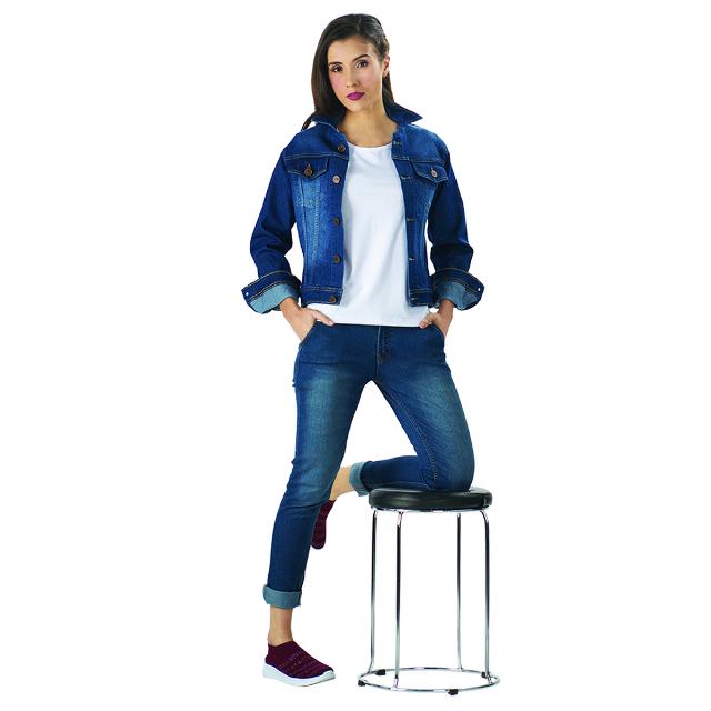 Jaket Jeans Wanita Biru | LA MONTEE