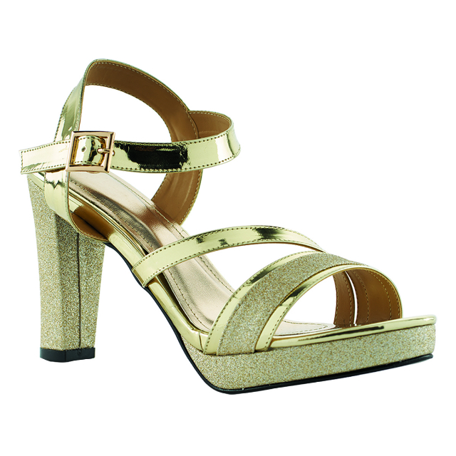 Sandal High Heels Pesta Gold | CASTON