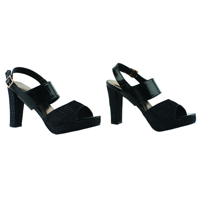 Sepatu High Heels Pesta Black | CASTON