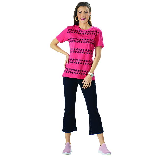 T-Shirt/Kaos Lengan Pendek Motif Print Merah | PUT IN ONE