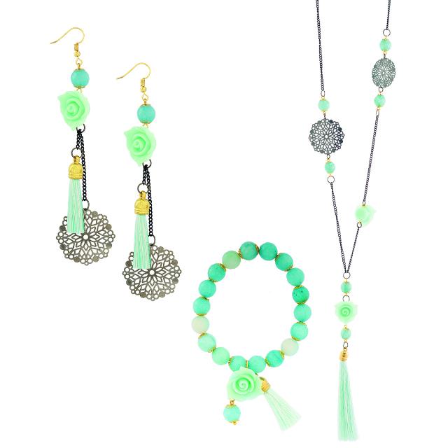 Set Perhiasan Wanita / Kalung, Anting, Gelang | KIN'S