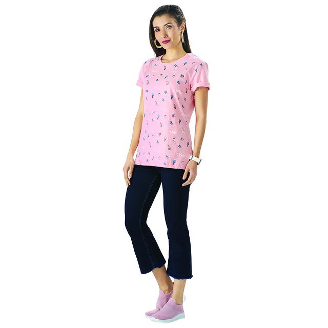 Kaos Wanita Pink / T-Shirt Ice Cream | PUT IN ONE