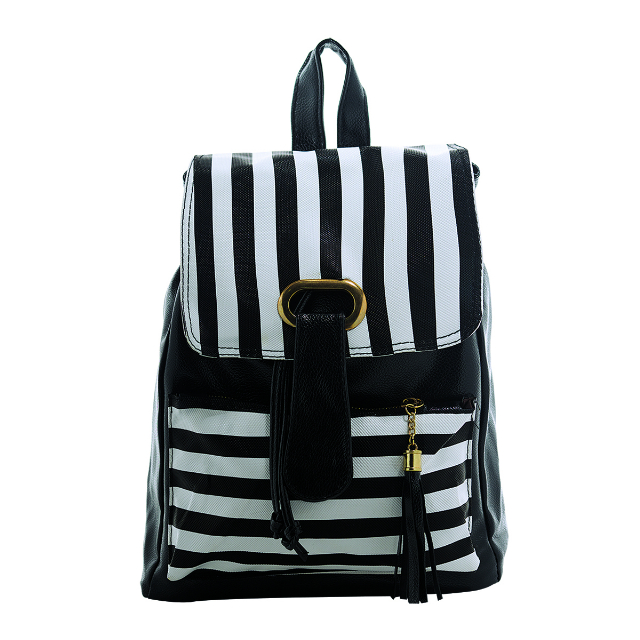 Backpack Wanita - Strip Hitam | G-POP