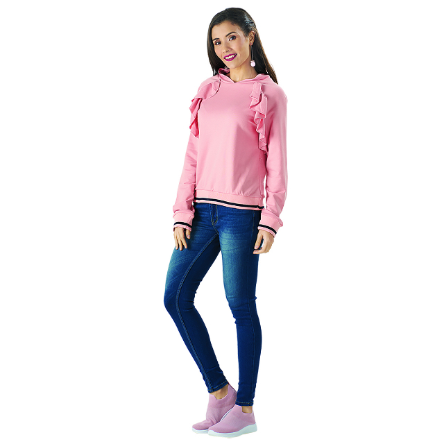 Sweater Frill Pink Trendy | CARMEL