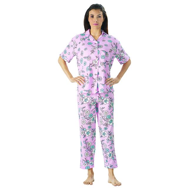 Piyama Bunga Kecil, M fit to L / Baju Tidur | CNC