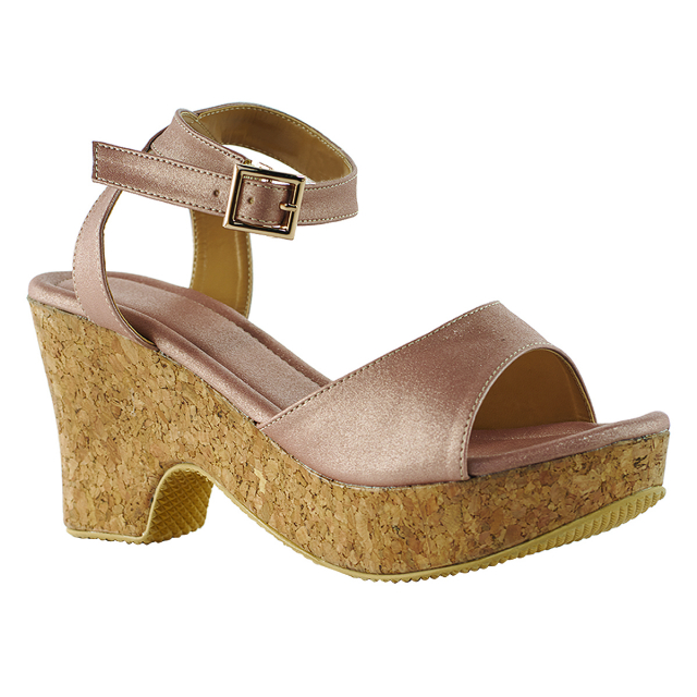 Sandal Wedges Kasual Gold | CASTON
