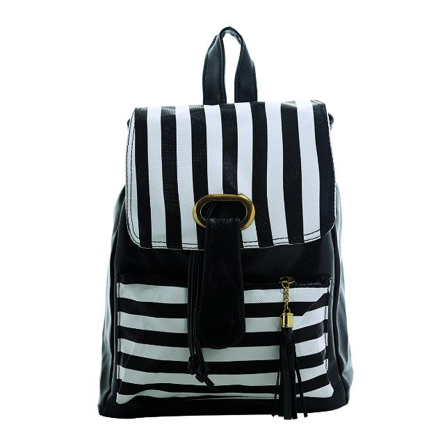 Backpack Wanita - Strip Hitam | G-POP