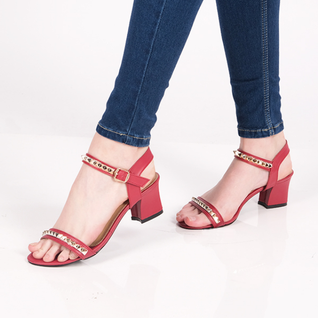 Sandal High Heels Wanita Leather | AYOMI