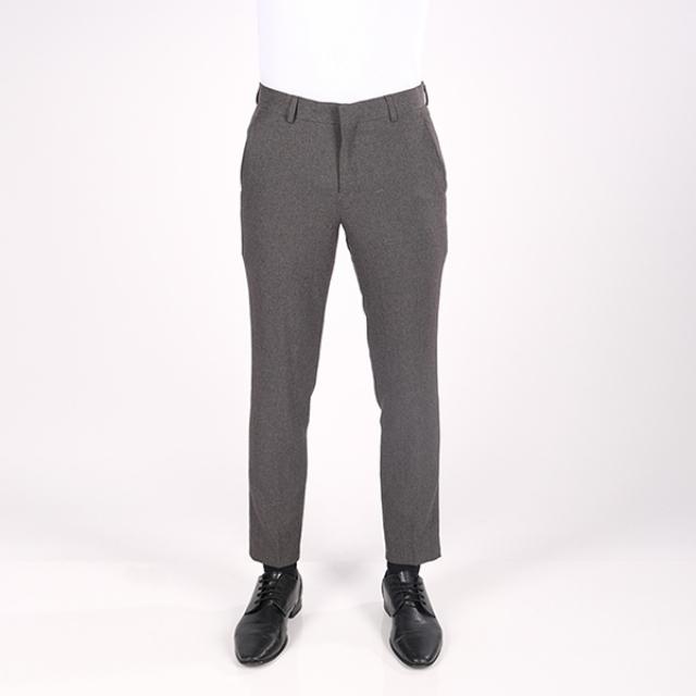 Celana Bahan Slim Fit Pria Abu-Abu | GERRALD & RYAN