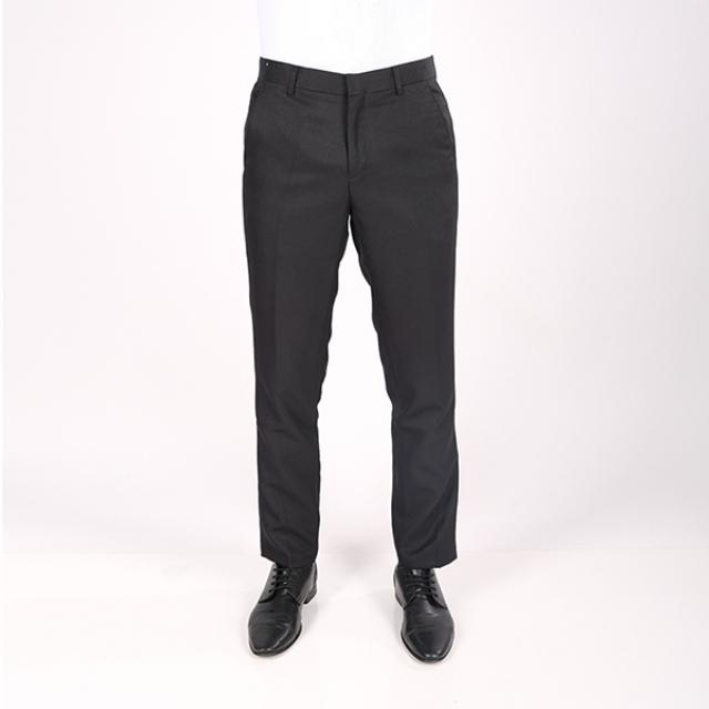 Celana Bahan Slim Fit Pria Hitam | GERRALD & RYAN
