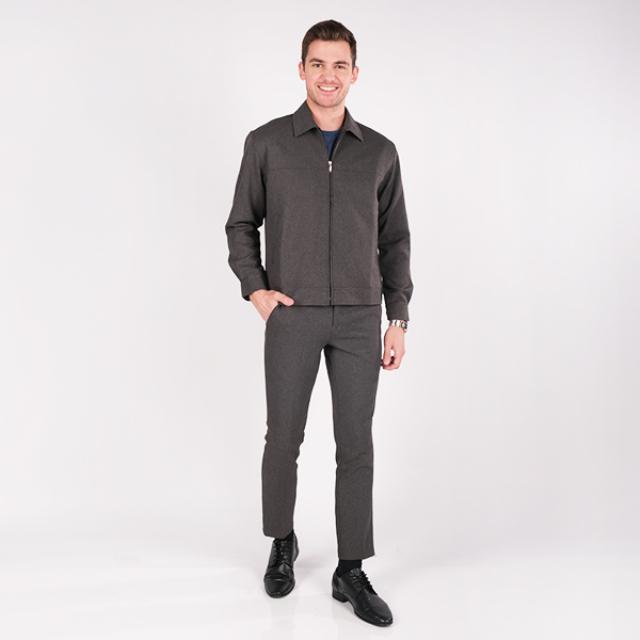 Jaket Basic Formal Pria Abu-Abu | GERRALD & RYAN
