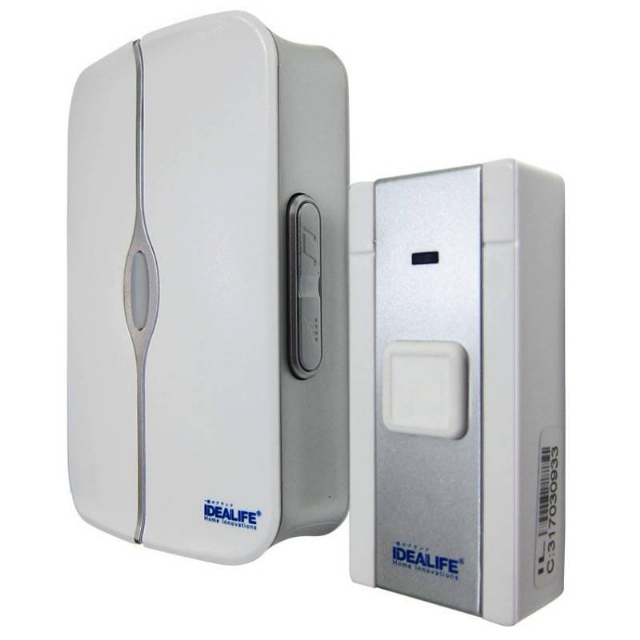 DC Wireless DoorBell 1 Remote (IL-301) / Bel Pintu Baterai 1 Remote | IDEALIFE