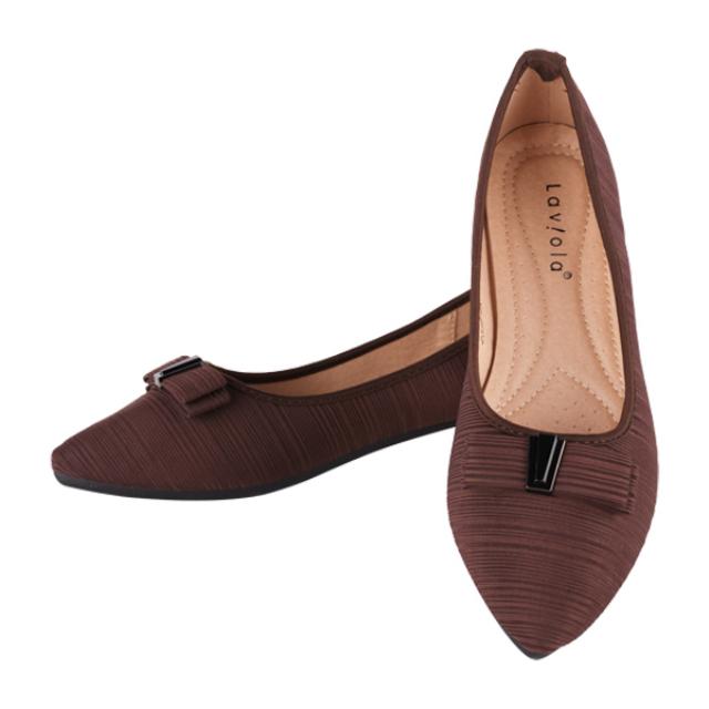 Sepatu Flat - Brown / Flat Shoes | LAVIOLA