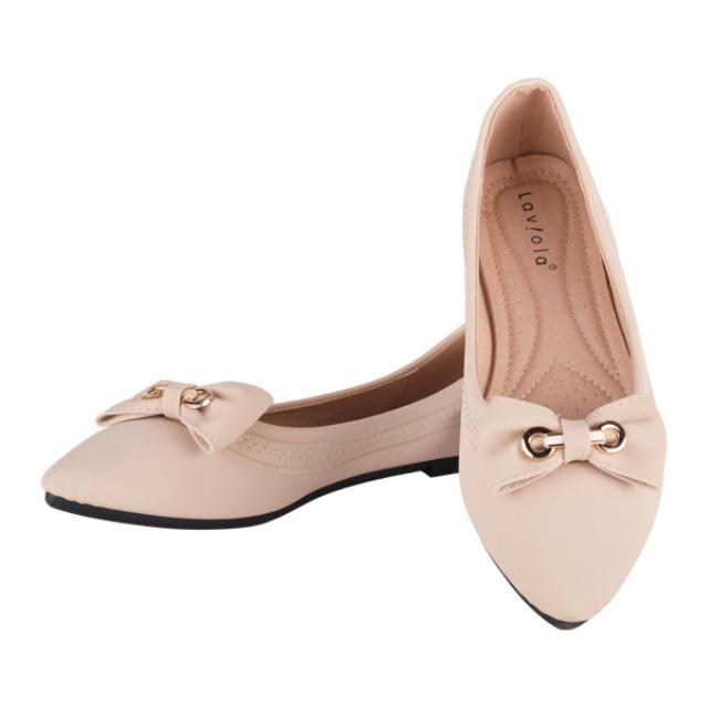 Sepatu Flat - Cream / Flat Shoes | LAVIOLA