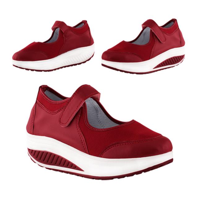 Sepatu Wedges / Wedges Pinca Red | BUNNY FEET