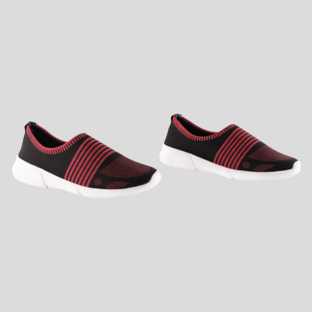 Sneakers Wanita Mulan Red /  Slip On Wanita | BUNNY FEET