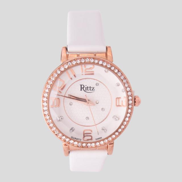Jam Tangan RITZ Wanita Leather Putih | G-POP