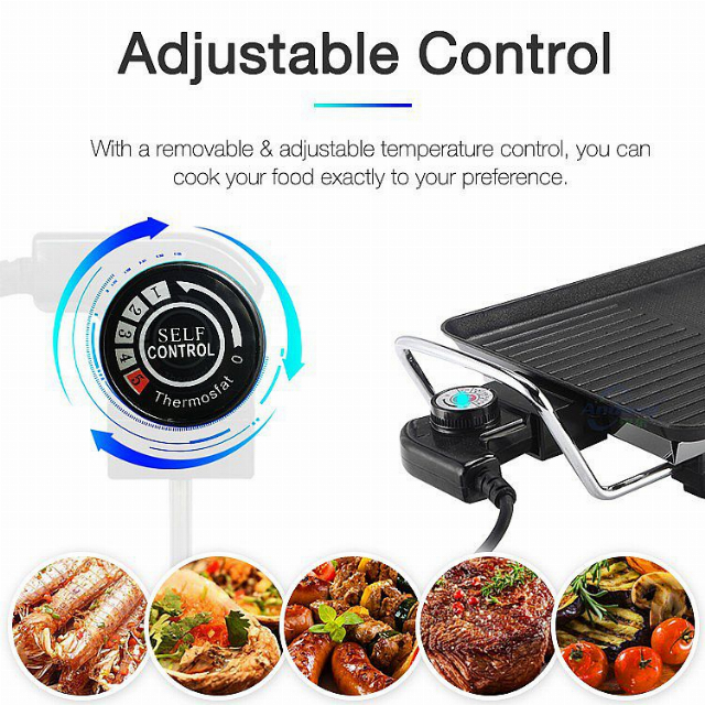 Electric Grill With Glass Lid (IL-117) / Panggang Listrik | IDEALIFE2