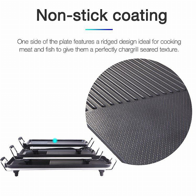 Electric Grill With Glass Lid (IL-117) / Panggang Listrik | IDEALIFE3