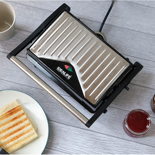 Panini Press (IL-203) / Toaster Pemanggang Roti / Daging | IDEALIFE