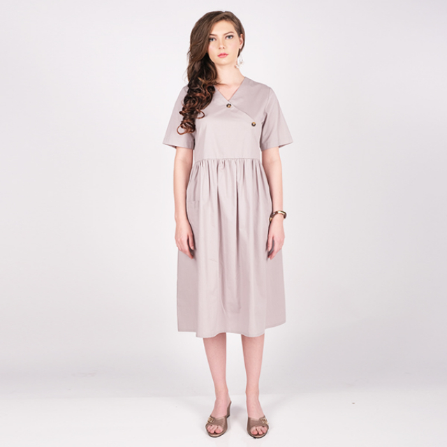 Dress Wanita Simple Cotton Poplin | GLOW