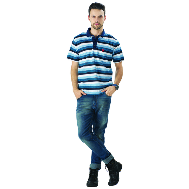 Kaos Polo Shirt Strip | LA MONTEE