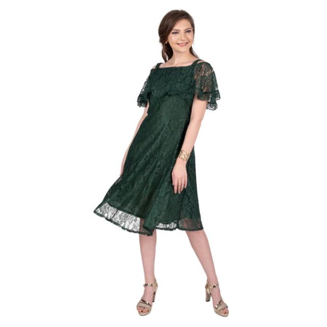 Dress Kondangan Wanita Mewah Full Brukat Hijau Gaun Pesta | MABELLA