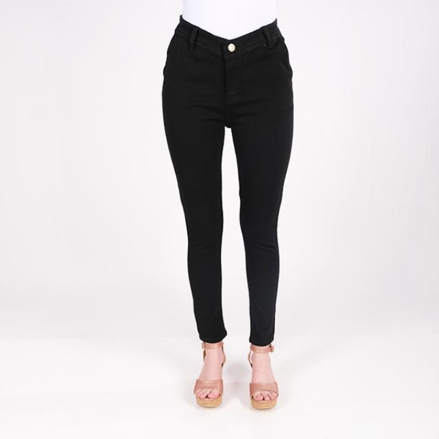 Celana Jeans Wanita Hitam Wanita | LA MONTEE