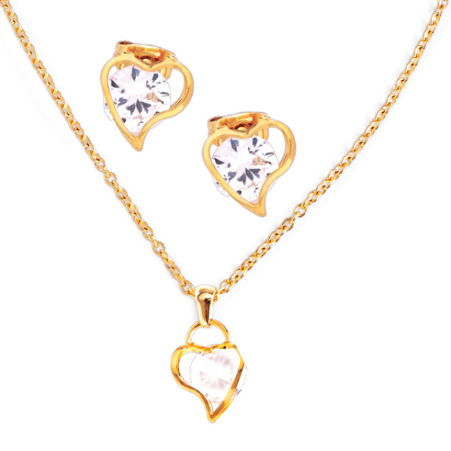 Kalung Set Anting Love | MOA
