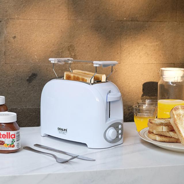 Toaster 2 Slices (IL-204) / Pemanggang / Panggangan Roti | IDEALIFE1