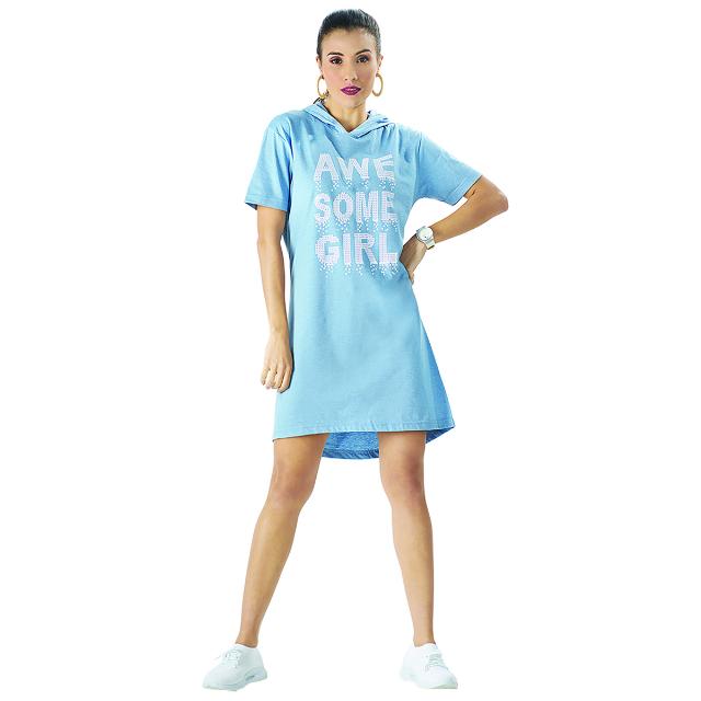 Dress Casual Pendek Hoodie | SKY