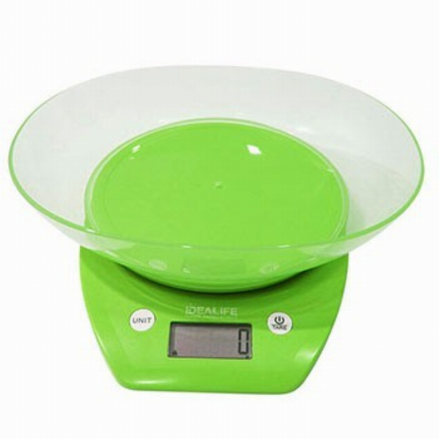 Digital Kitchen Scale + Bowl (IL-210) / Timbangan Kue Digital | IDEALIFE1