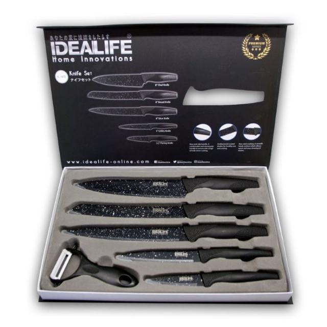Knife Set (IL-160) / Perlengkapan Pisau Dapur | IDEALIFE