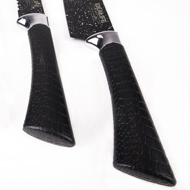 Knife Set With Scissors (IL-160SE) / Perlengkapan Pisau Dapur Dengan Gunting | IDEALIFE2