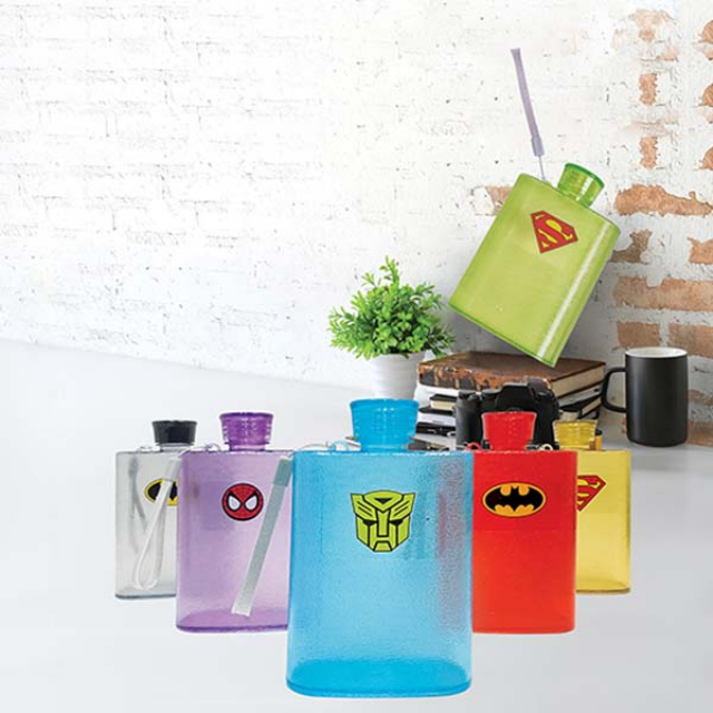 Botol Air Minum Motif Superhero 430ml | RAINBOW