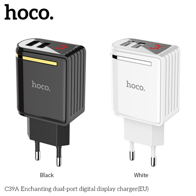 Charger C39A Dual-Port Digital Display | HOCO