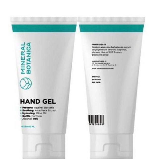 Mineral Botanica Hand Gel / Hand Sanitizer 60 Ml | MINERAL BOTANICA