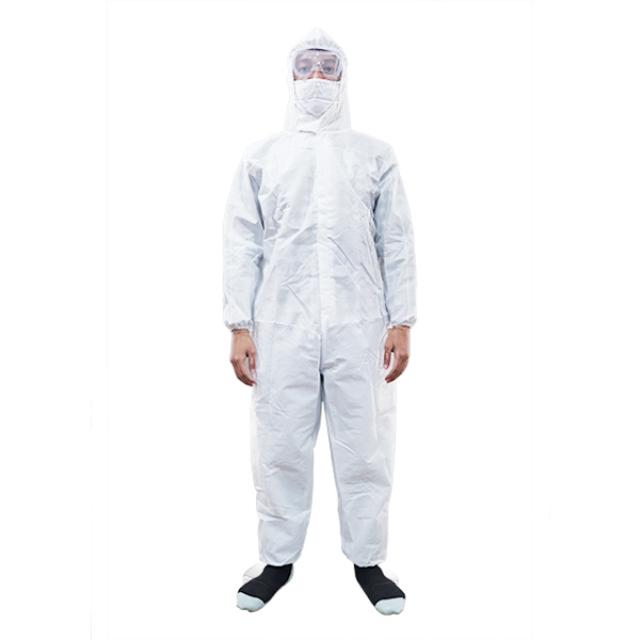 Hazmat Overall APD Putih Polos Waterproof | BUMAME FARMASI