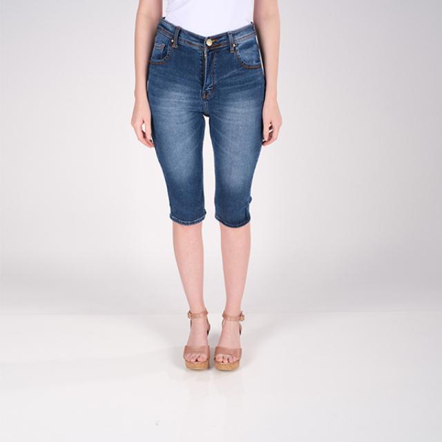 Celana Pendek Wanita Jeans 3/4   LA MONTEE