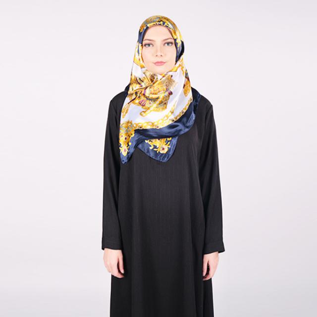 Syal / Jilbab Segi Empat Motif Europa | IEKE