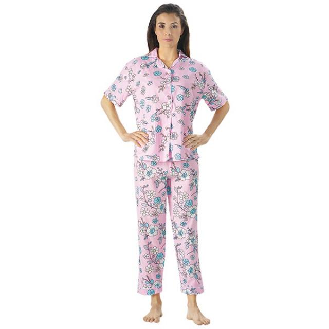 Piyama Bunga Kecil, M fit to L / Baju Tidur   CNC