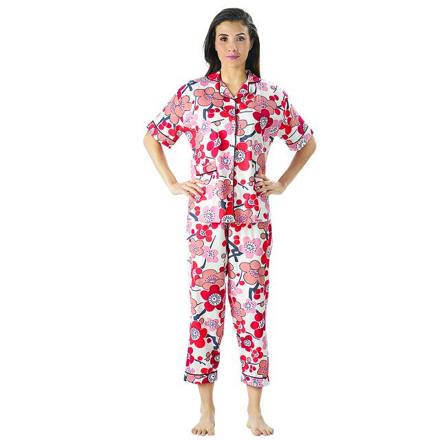 Piyama Bunga, M fit to L / Baju Tidur   CNC