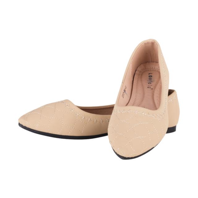 Sepatu Flat - Beige / Flat Shoes | LAVIOLA