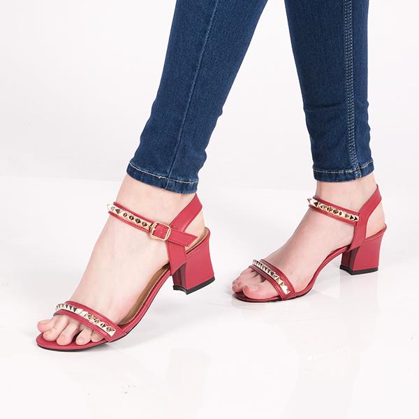 Sandal High Heels Wanita Leather   AYOMI