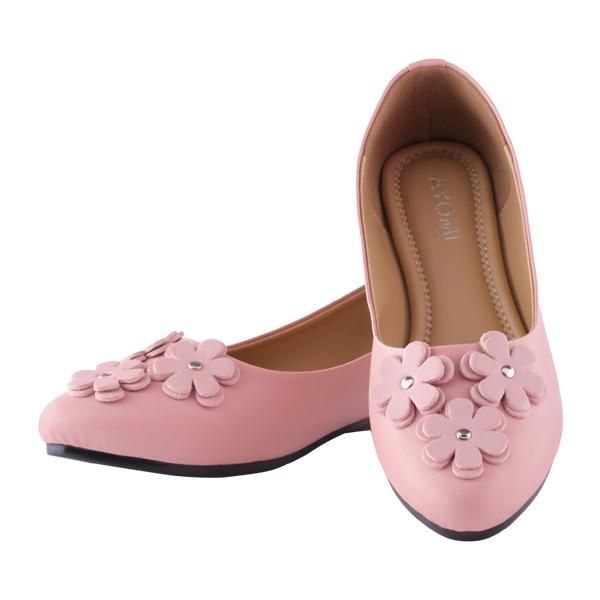 Sepatu Flat Shoes Wanita Design Bunga | AYOMI