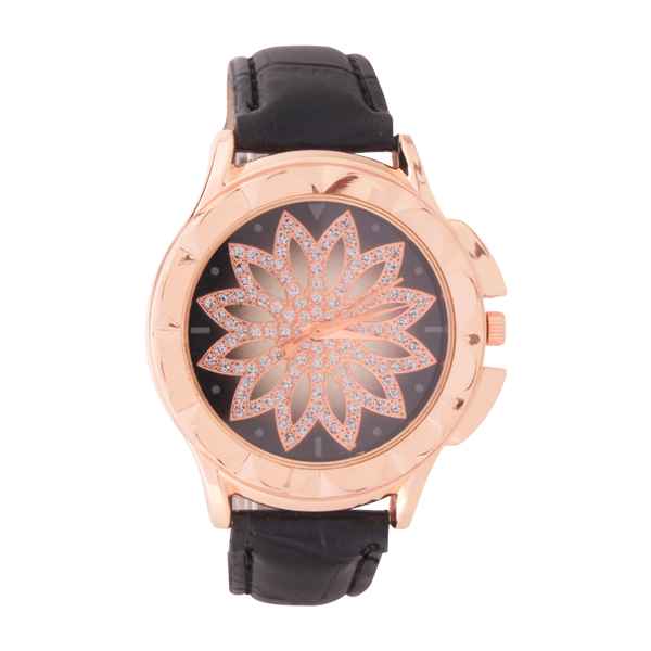 Jam Tangan Wanita Leather Gold/Black | G-POP