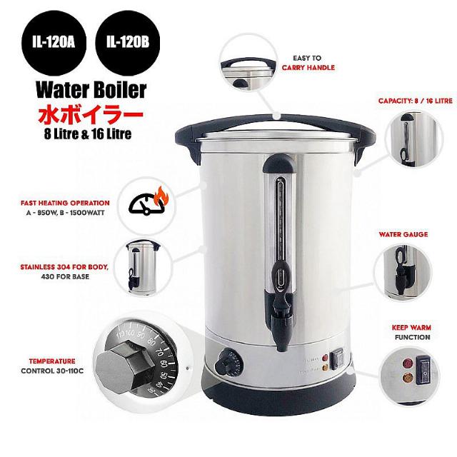 Water Boiler 8 Litre (IL-120A) / Pemanas Air Listrik   IDEALIFE0