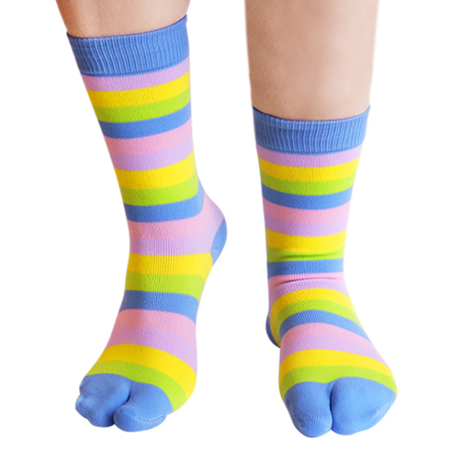 Kaos Kaki Jari Muslim Anak Color Strip | ALMIRA