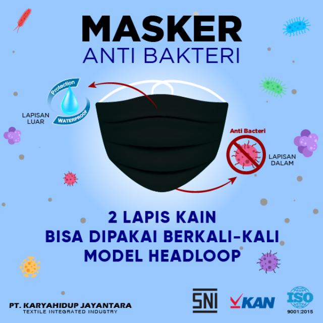 Masker Kain Hijab Anti Bakteri Headloop | AB MASKER1